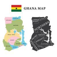 Ghana kaart vector