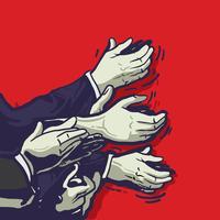 Klassieke vector handen klappen