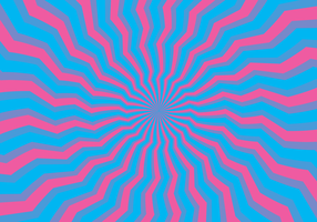 psychedelische hypnose illusie vector