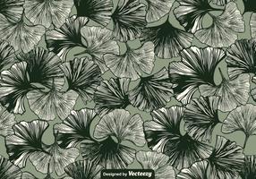 Vector Gingko blad naadloze patroon