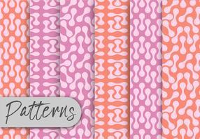 Zachte roze patroon set vector
