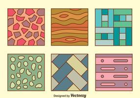Kleurrijke vloer laminaat collectie Vector