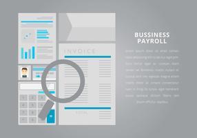 Business Payroll met bewerkbare tekst vector