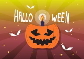 Gratis platte Halloween vectorillustratie