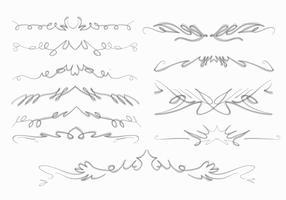 Natuurlijke Squiggles Frame Brush Hand getrokken collectie Vector
