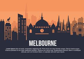 Melbourne stad vectorillustratie vector