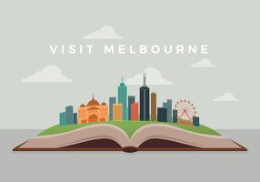 Bezoek Melbourne Gratis Vector