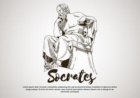 Socrates Handrawn vectorillustratie vector