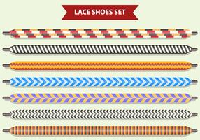 Set van Shoe Lace vector