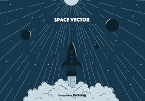 Ruimte vectorillustratie vector