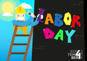 Dag van de arbeid Vector achtergrond