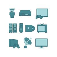 Gratis Home Entertainment Icon Vector