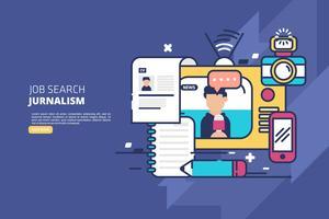 Job Search Illustratie vector