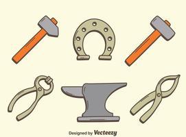Blacksmith Tools Collectie Vector