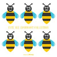 Leuke verzameling Bee Emoticons
