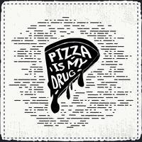 Gratis hand getrokken pizza vector achtergrond
