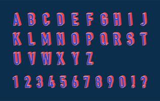 Vector 3d lettertype illustratie