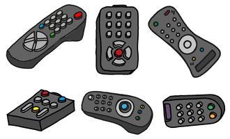 vector tv afstandsbediening set