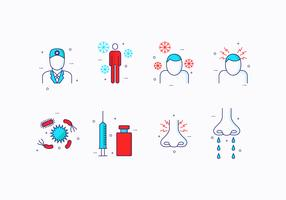 Flat Sinus pictogram vector