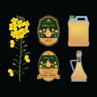 Canola olie geïsoleerd vectorillustratie