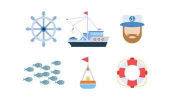 Gratis uitstekende reeks visvectoren