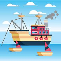 Trawler vectorillustratie vector