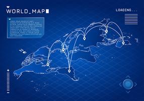 Wereldkaart digitale gratis vector
