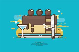 Buckeye Cake illustratie vector