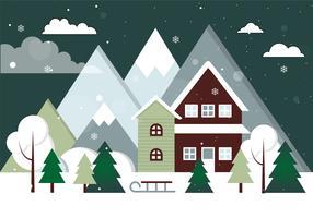 Gratis Vector Kerstlandschap