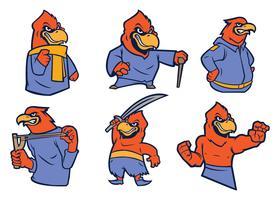 Gratis kardinaal vogel mascotte vector