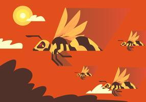 Hornet-migratie vector
