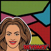 Beyonce Pop Art achtergrond Vector