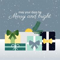 Gratis platte ontwerp Vector Christmas Greetings