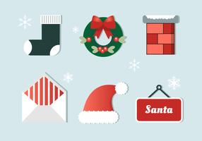 Gratis platte ontwerp Vector Christmas Elements