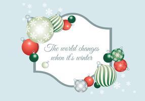 Gratis Ontwerp Vector Kerst Achtergrond