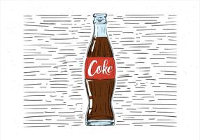 Gratis hand getrokken cokes illustratie vector