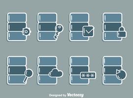 Databasis pictogrammen Vector