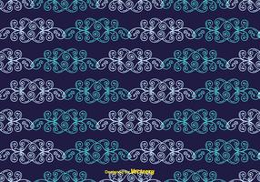 Blauw vintage patroon vector
