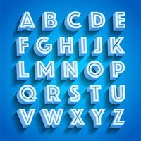 Vector Wit Retro 3D-lettertype