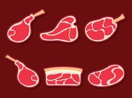 Kalfsvlees Collectie Vector
