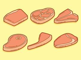 Hand getrokken Kalfsvlees Vector