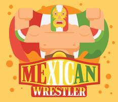 Mexicaanse worstelaar illustratie