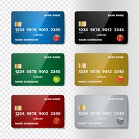 Realistische creditcard set vector