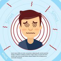 Platte gezicht en sinus illustratie