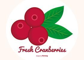 Vlakke stijl cranberries illustratie