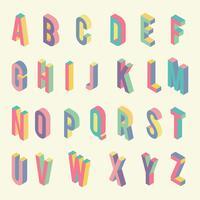 3D-lettertypen isometrische Vector