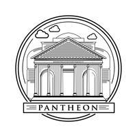 Lijn kunst Damascus Pantheon Vector