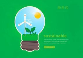 Voordelen van duurzame energie vector