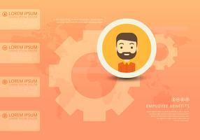 Employee Benefits Infographic-sjablonen vector