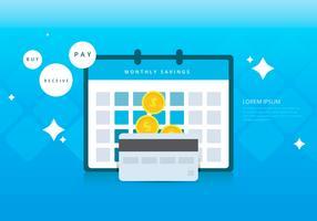 Maandelijkse besparende voordelen Infographic-sjablonen vector
